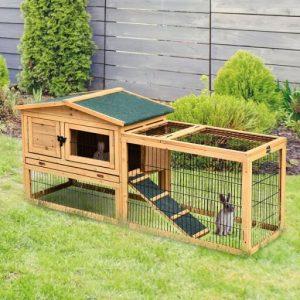 Kaninbur med løbegård, kaninbur